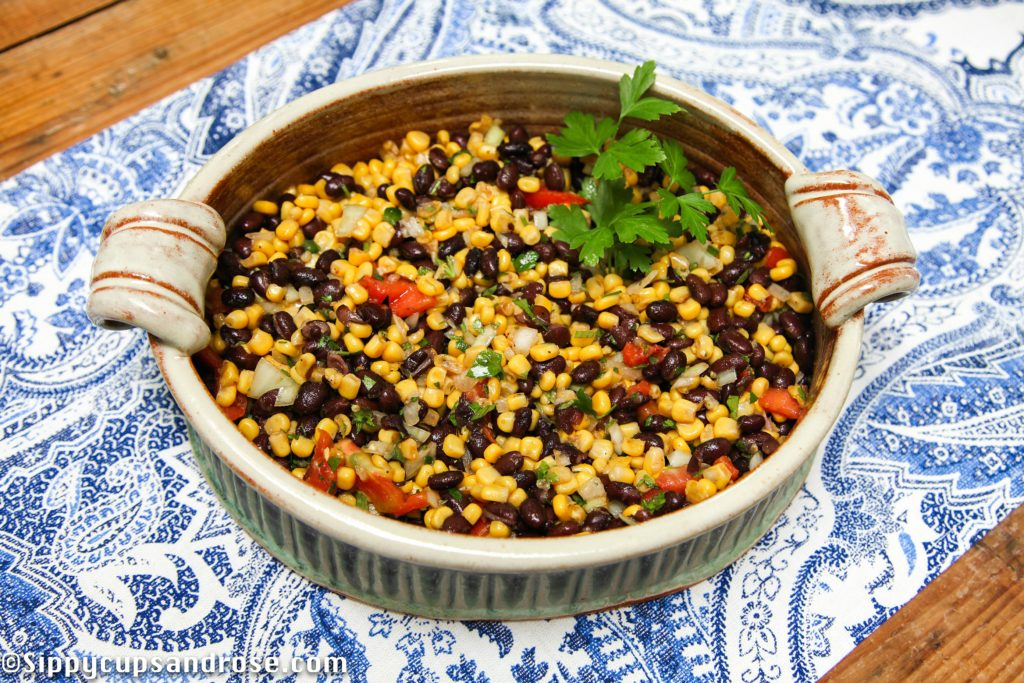 The Most Delicious Corn and Black Bean Salad! by lifestyle blogger Anya of Sippy Cups and Rose