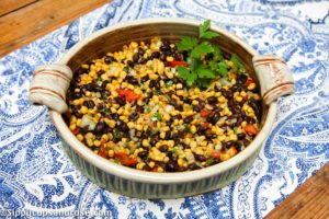 The most delicious corn and black bean salad