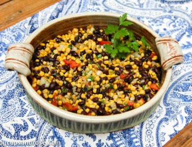 The Most Delicious Corn and Black Bean Salad!
